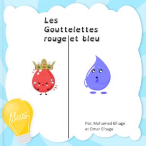 Gouttelettes bleu et rouge